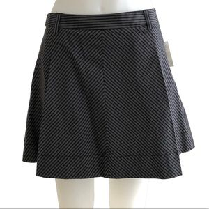 Old Navy Black and Grey Striped Mini Skirt Size 12